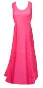 SALE! Hot Pink Cotton Mock Denim Princess Cut Standard Length Plus Size Supersize Tank Dress 3x 8x