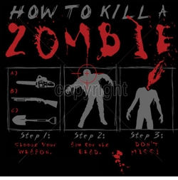 NEW! How To Kill A Zombie Plus Size & Supersize T-Shirts S M L XL 2x 3x 4x 5x 6x 7x 8x (Most Colors)