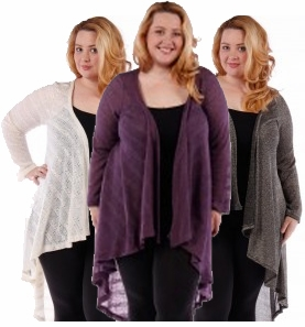 SALE! Ivory, Black and Silver, or Purple Knitted Sweater Coverup Cardigan Plus Size Jackets 4x 5x 6x