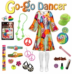 SALE! Lava Love Print Plus Size Go-go Dancer Costume Kit Lg XL 0x 1x 2x 3x 4x 5x 6x 7x 8x 9x