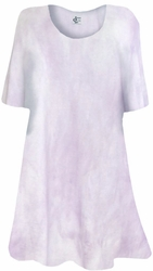 NEW! Lavender Tye Dye Print Supersize Extra Long T-Shirts 0x 1x 2x 3x 4x 5x 6x 7x 8x 9x Customizable!