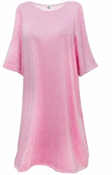 NEW! Light Pink With Silver Glimmer Lightweight Supersize Extra Long Short Sleeve Sweater Shirt 3x 4x 5x 6x 8x