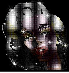 Marilyn Monroe Blonde Pop Color Portrait Sparkly Rhinestuds Plus Size & Supersize T-Shirts S M L XL 2x 3x 4x 5x 6x 7x 8x 9x (All Colors)