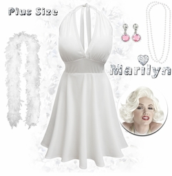 SALE! Marilyn Monroe Plus Size Supersize Costume + Free Gift! XL 1x 2x 3x 4x 5x 6x 7x 8x