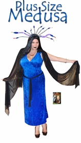 NEW! Medusa Economy or Deluxe Set Plus Size & Supersize Halloween Costume and Accessory Kit! Sizes Lg to 9x