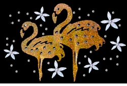 Metallic Mini Sparkly Flamingo Pair Plus Size & Supersize T-Shirts S M L XL 2x 3x 4x 5x 6x 7x 8x
