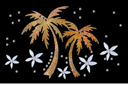 Metallic Mini Sparkly Gold Palm Tree Plus Size & Supersize T-Shirts S M L XL 2x 3x 4x 5x 6x 7x 8x
