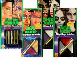 MINI-MAKEUP KITS! Glitter Sticks - Devil Makeup - Skull Makeup - Vampire - Makeup Mini Palette Kit