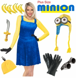 SALE! Minion Plus Size & Supersize Costume Lg XL 1x 2x 3x 4x 5x 6x 7x 8x