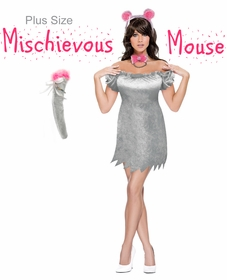 SALE! Mischievous Mouse Plus Size & Supersize Halloween Costume / Accessory Kit! Lg XL 1x 2x 3x 4x 5x 6x 7x 8x 9x