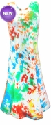 SALE! Multi Color Blue Red Green Yellow Tie Dye Princess Cut Tank Plus Size Supersize Dress 2x 3x 4x 6x 8x
