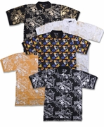 SALE! Mustard, Black, or White Jazzy Metallic or Multicolor Hats Print Plus Size Short Sleeve Polo Shirts 2xl 3xl 4xl 5xl