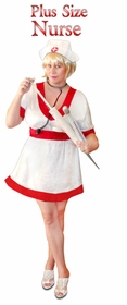 SALE! Nurse Economy or Deluxe Set Plus Size & Supersize Halloween Costume and Accessory Kit! Sizes Lg XL 1x 2x 3x 4x 5x 6x 7x 8x 9x