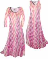 Customize Opalescent Pink Zebra Slinky Print  Plus Size & Supersize Standard or Cascading A-Line or Princess Cut Dresses & Shirts, Jackets, Pants, Palazzo's or Skirts Lg to 9x