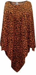 NEW! Orange Leopard Glittery Slinky Plus Size Supersize Poncho