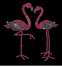 Pair of Pink Flamingos Sparkly Rhinestuds Plus Size & Supersize T-Shirts S M L XL 2x 3x 4x 5x 6x 7x 8x 9x (All Colors)