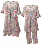 SALE! Pastel Floral Rainbow Print Moo Moo Dress Sleepwear Loungewear 3x