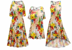 NEW! Peachy Florals Slinky Print - Plus Size Slinky Dresses Shirts Jackets Pants Palazzo�s & Skirts - Sizes Lg to 9x