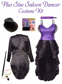 Plus Size Sexy Can Can Burlesque Dancer Costume 0x 1x 2x 3x 4x 5x 6x 7x 8x 9x