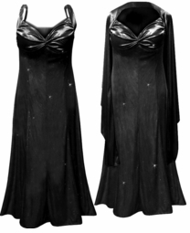 Pretty Black Glittery Satin 2 Piece Plus Size SuperSize Princess Seam Dress Set 0x 1x 2x 3x 4x 5x 6x 7x 8x 9x