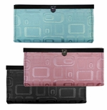 NEW! Black, Pink or Green Embossed Wallets