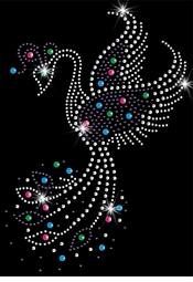 Pretty Phoenix Rising Sparkly Rhinestuds Plus Size & Supersize T-Shirts S M L XL 2x 3x 4x 5x 6x 7x 8x 9x (All Colors)