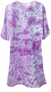 SOLD OUT! Purple Tie Dye V Neck Plus Size T-Shirts 2XL 3XL 12.99 each or TWO FOR $17.99!