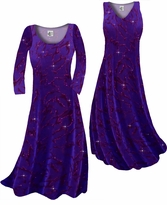 Customize Purple With Hot Pink Glitter on Velvet Animal Stripes Slinky Print Plus Size & Supersize Standard or Cascading A-Line or Princess Cut Dresses & Shirts, Jackets, Pants, Palazzo's or Skirts Lg to 9x