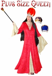 SALE! Queen Plus Size Supersize Halloween Costume + Add Accessories! Sizes Lg XL 1x 2x 3x 4x 5x 6x 7x 8x 9x
