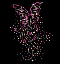 Rainbow Butterfly Bursts Sparkly Rhinestuds Plus Size & Supersize T-Shirts S M L XL 2x 3x 4x 5x 6x 7x 8x 9x (All Colors)
