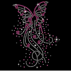 Butterfly Bursts Sparkly Rhinestuds Plus Size & Supersize T-Shirts S M L XL 2x 3x 4x 5x 6x 7x 8x 9x (All Colors)