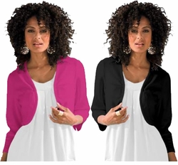 SALE! Raspberry, White, Black or Purple Bolero Plus Size Cardigan Coverup 4x 5x