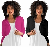 SOLD OUT!  White, Black or Purple Bolero Plus Size Cardigan Coverup 5x