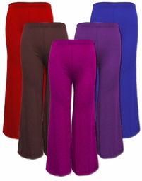 SALE! Royal Blue, Magenta, Dark Purple, Brown, or Red Poly Cotton Wide Leg Palazzo Plus Size Pants 4x 5x 6x