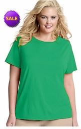 SALE! Shamrock Green Round Neck Plus Size T-Shirt 2x 3x 4x 5x