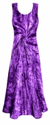 SALE! Shimmering Purple Swirl Tie Dye Crush Velvet Plus Size & Supersize Princess Cut Tank Dress 1x 2x 3x 4x 5x 6x 7x 8x