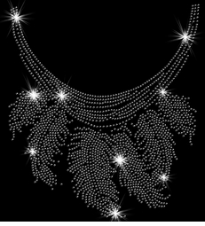 Silver Feathers Neckline Sparkly Rhinestuds Plus Size & Supersize T-Shirts S M L XL 2x 3x 4x 5x 6x 7x 8x 9x (All Colors)