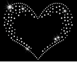 Small Heart Sparkly Rhinestuds Plus Size & Supersize T-Shirts S to 9x (All Colors)