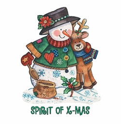 Snowman and Reindeer Plus Size & Supersize T-Shirts S M L XL 2x 3x 4x 5x 6x 7x 8x 9x (All Colors)