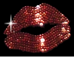 Sparkly Rhinestud Rhinestone Red Lips Plus Size & Supersize T-Shirts S M L XL 2x 3x 4x 5x 6x 7x 8x 9x (All Colors)