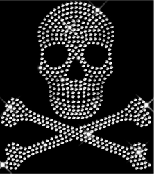 New! Sparkly Rhinestud Rhinestone Silver Skull & Crossbones Plus Size & Supersize T-Shirts S M L XL 2x 3x 4x 5x 6x 7x 8x 9x (All Colors)