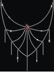Sparkly Rhinestud Rhinestone Spider Web Neckline Plus Size & Supersize T-Shirts S M L XL 2x 3x 4x 5x 6x 7x 8x 9x (All Colors)