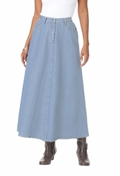 SALE! Stonewash Light Blue Denim A Line Plus Size Skirt 4x/36