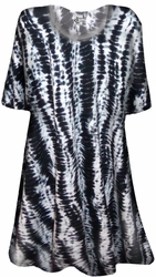 SOLD OUT! NEW! Stormy Lines Tie Dye Print Supersize Extra Long T-Shirts 0x 1x 2x 3x 4x 5x 6x 7x 8x 9x Customizable!