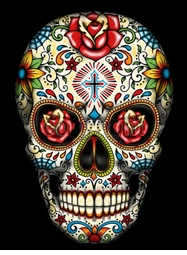 Sugar Skull With Cross Day Of The Dead Plus Size & Supersize T-Shirts S M L XL 2x 3x 4x 5x 6x 7x 8x (All Colors)