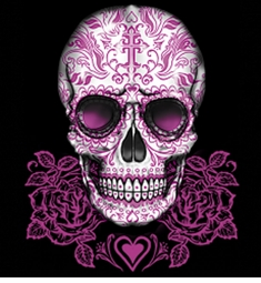 Sugar Skull With Pink Roses Plus Size & Supersize T-Shirts S M L XL 2x 3x 4x 5x 6x 7x 8x (All Colors)