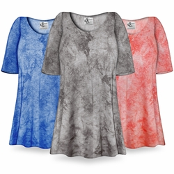 NEW! Customizable Ribbed Tie Dye Print Supersize Extra Long T-Shirts 0x 1x 2x 3x 4x 5x 6x 7x 8x 9x!