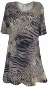 SOLD OUT! SALE! Taupe Reptile Animal Print Supersize A Line Extra Long T-Shirts 3x