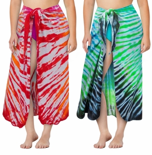 NEW! Terry Fabric Tie Dye Plus Size Sarong - Swimsuit Coverup - 1x 2x 3x 4x 5x 6x 7x 8x