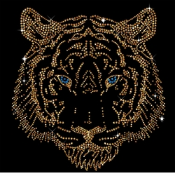 NEW! Tiger Head Portrait Sparkly Rhinestuds Plus Size & Supersize T-Shirts S M L XL 2x 3x 4x 5x 6x 7x 8x 9x (All Colors)